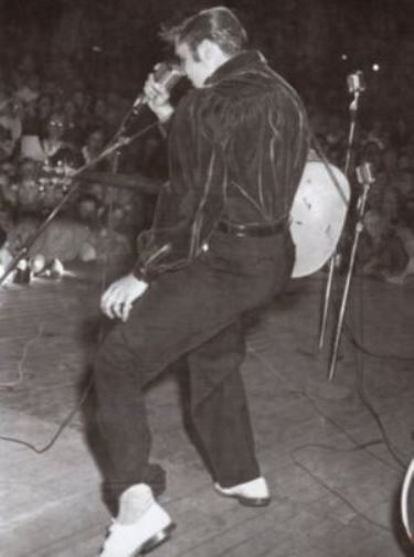 Elvis '56 Tupelo Concert Evening Show Wearing Red Velvet Shirt