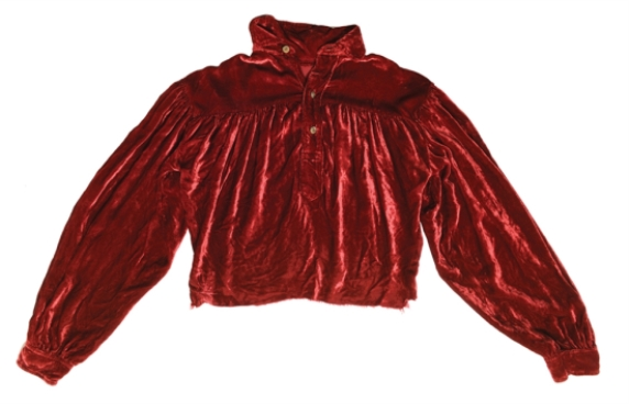 Elvis' Red Velvet Shirt from '56 Tupelo Concert