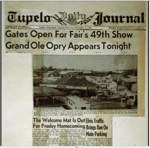 Tupelo Daily Journal - Elvis '56 Tupelo Concert