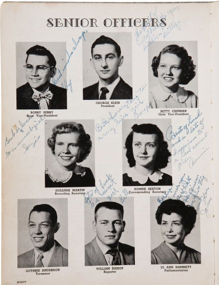 1954 Humes High School Class Officers