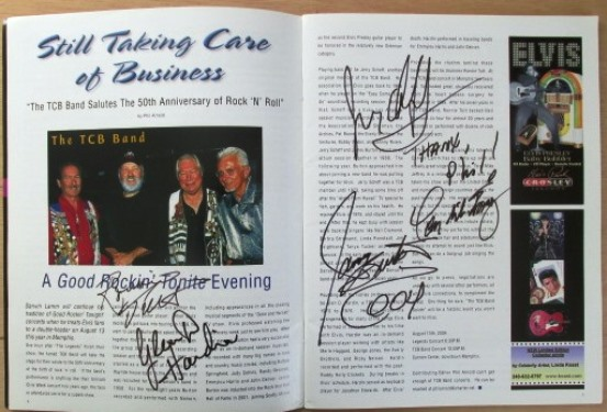 Elvis' TCB Band Autographs