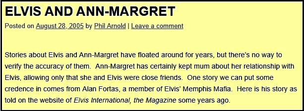 Elvis and Ann-Margret ElvisBlog Post