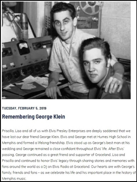 Graceland.com - Remembering George Klein