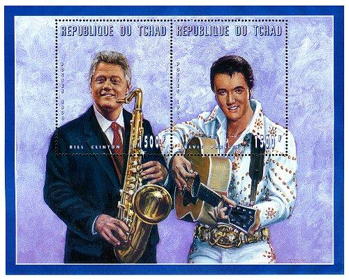 Clinton / Elvis Stamp