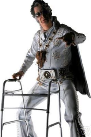 Elvis Look-a-like with a Walker