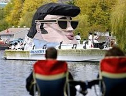 Giant Floating Elvis Head