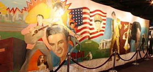 Section of Elvis-A-Rama Wall Mural