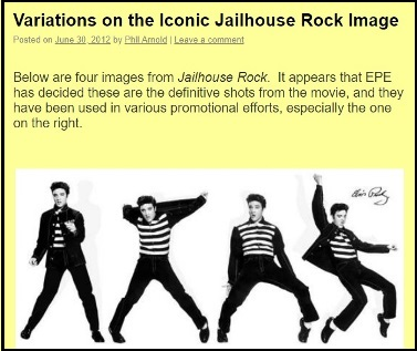 2012 ElvisBlog post about Jailhouse Rock Image