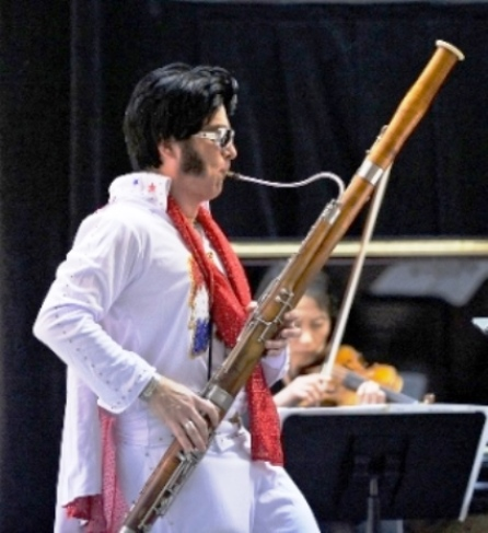 Bassoon Player in Elvis Jumpsuit