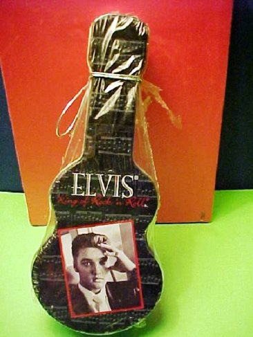 Elvis Guitar-Shaped Pretzel Tin