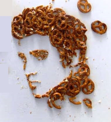 Elvis with Pretzel Hair