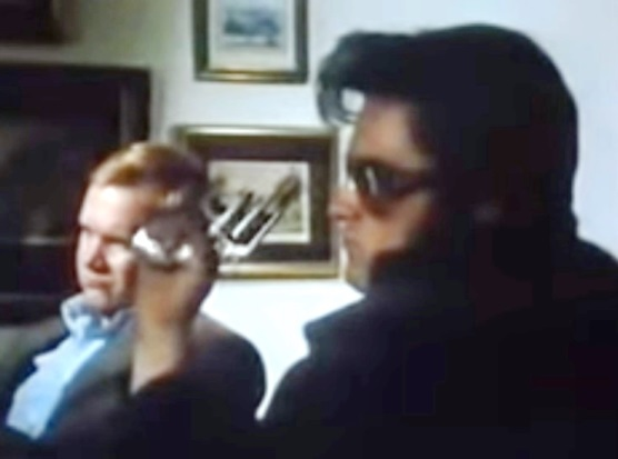 Kurt Russel as Elvis Shooting TV