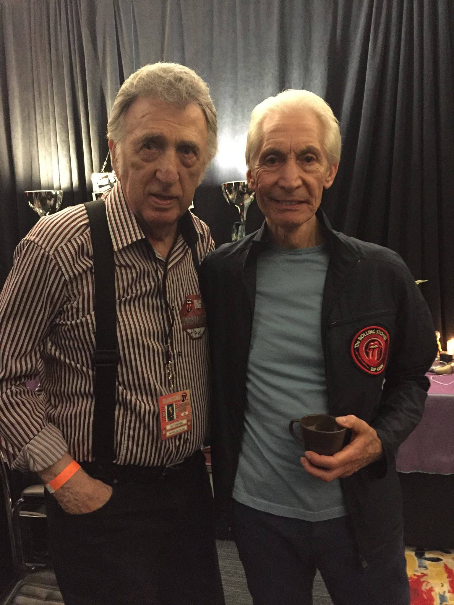 DJ and Charlie Watts in July 2015