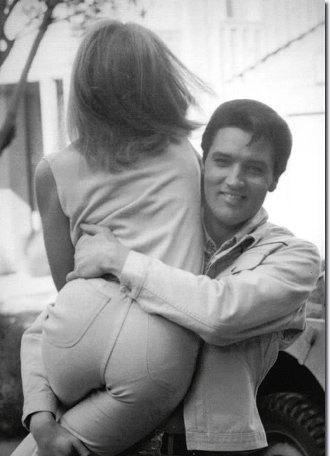 Elvis Picking up Girl