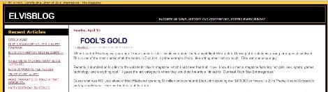 ElvisBlog 2007 Homepage