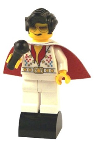 Las Vegas Red Cape Lego Elvis Minifigure