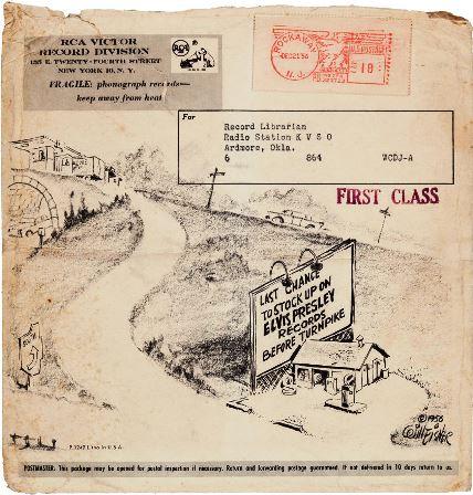 Elvis Old Shep Promo Mailing Envelope