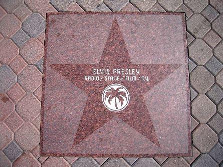 Elvis on Walk of Fame, Hollywood