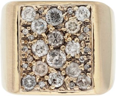 Elvis' Gold Ring with Diamonds