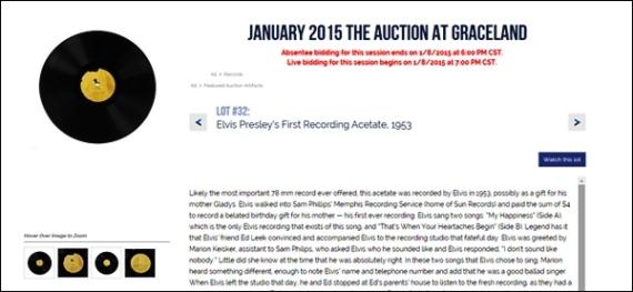 Auction at Graceland