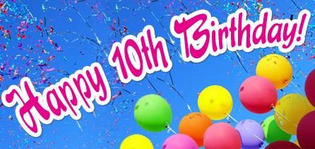 Happy 10th Birthday Balloons 2
