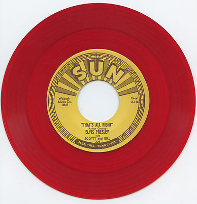 Red Vinyl Elvis Sun 45