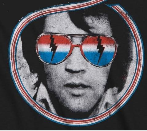 Elvis Wearing TCB Glasses
