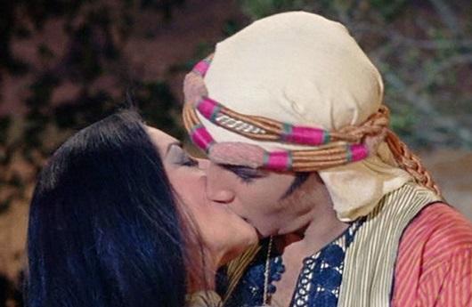 Elvis Kissing Girl after Saving Her in Harum Scarum