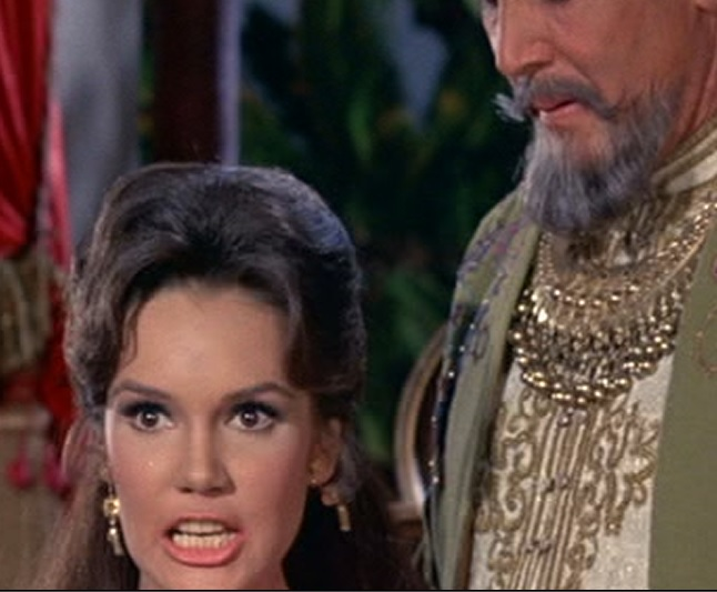 Mary Ann Mobley Getting Mad at Elvis in Harum Scarum