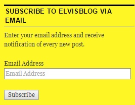 Subscribe to ElvisBlog