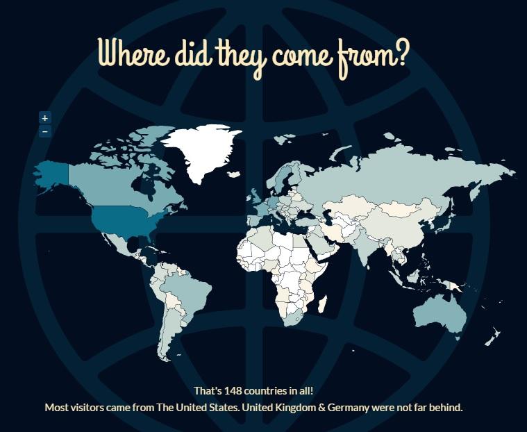 World Map of ElvisBlog Visitors