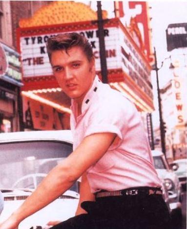 Elvis WearingCustom Made Pink Gabardine Short Sleeve Shirt