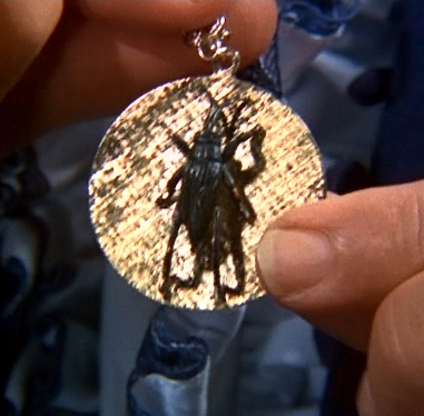 Elvis' Lucky Cricket Pendant in Frankie and Johnny
