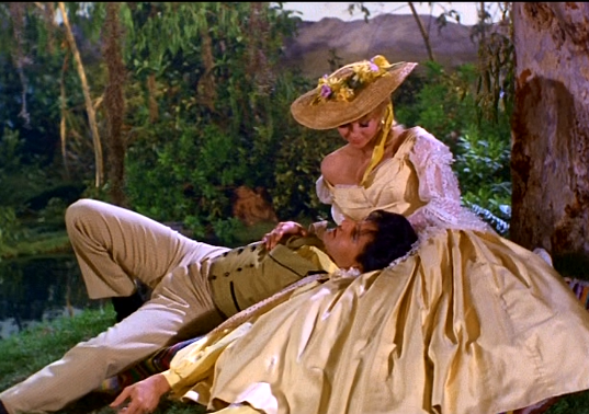 Elvis and Donna Douglas in Dream Sequence in Frankie and Johnny