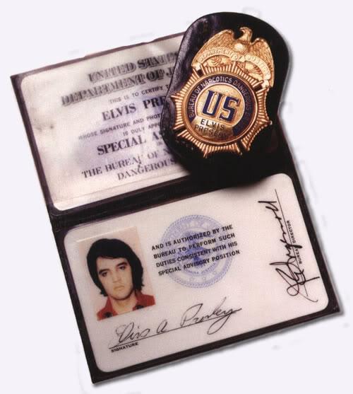 Elvis' Bureau of Narcotics and Dangerous Drugs Badge