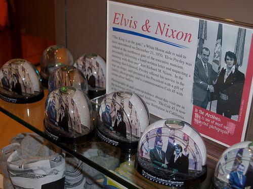 Elvis and Nixon Snow Globes Snow Globes