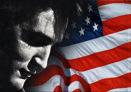 Elvis and American Flag on Memorial Day
