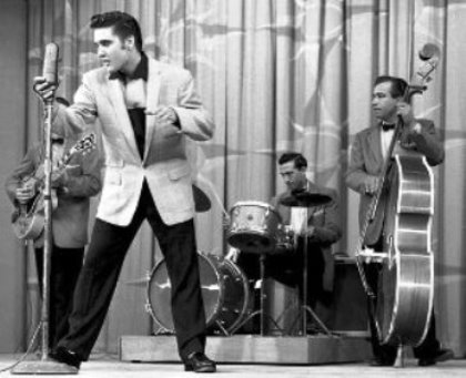 Elvis and the Band on Milton Berle Show